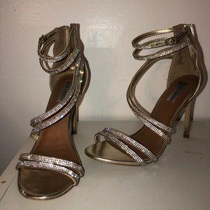 Gold Crystal Steve Madden Heels